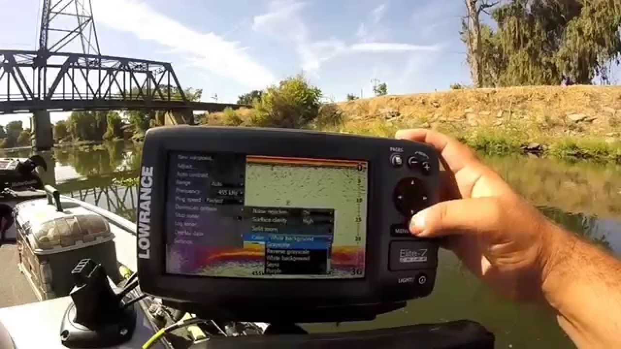 lowrance elite 7 chirp on the water review - screen shots, Fish Finder