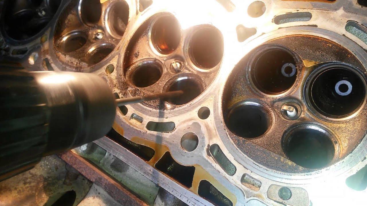 Peugeot 307 Чистка воздушных каналов ГБЦ RFN (EW10J4) Secondary Air injection