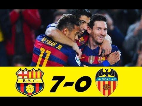 BARCELONA VS VALENCIA 7-0 !!!