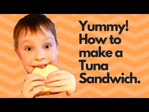 In The Kitchen| How To Make A Tuna Fish Sandwich - Kid Version