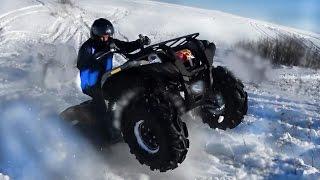 Yamaha Grizzly 700 отжигает на гонке джипов и квадроциклов Снежный Беспридел 2016.