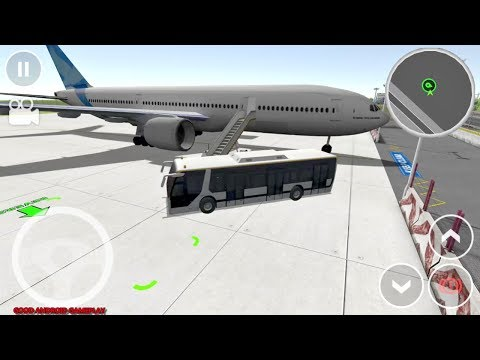 Drive Simulator Lite #6 - Plane Passangers Bus Transport Mission Android GamePlay FHD