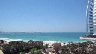 Burj Al Arab & Jumeirah Beach Hotel from Wild Wadi in Dubai