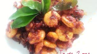 Prawn Fry (Malabar Style) - Shrimp Fry - Chemmeen Fry