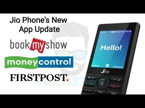 Jio Phone BookMyShow, Moneycontrol, Firstpost, App Update