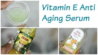 Vitamin E ( Evion 400 Capsule) Anti Aging Serum for Wrinkles on Face and Forehead