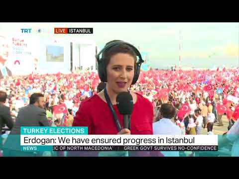 President Erdogan addresses AK party supporters in Istanbul
