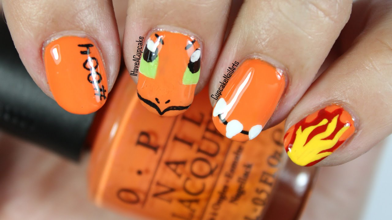- Pokemon Nail Art *Charmander* - YouTube