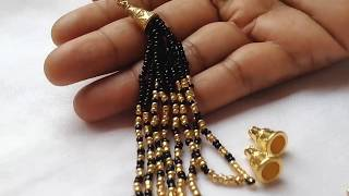|| EASY  HANDMADE SEED BEAD TASSEL EARRINGS||