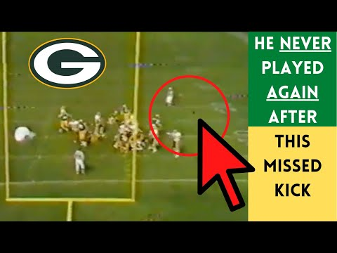 [OC] [Highlight] In a 1988 game against Washington, trailing 20-17 with 10 seconds left, Packers kicker Max Zendejas shanked a 24-yard field goal so badly that he was cut the next day and never played in the NFL again. After the miss, Washington DL Dexter Manley sent Zendejas a Christmas gift