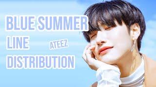 ATEEZ BLUE SUMMER (LINE DISTRIBUTION)