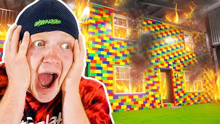 MY LEGO HOUSE CAUGHT ON FIRE!