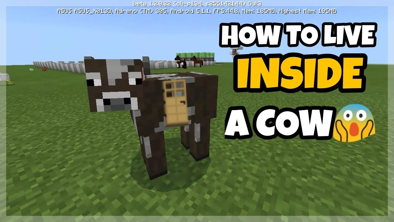 How To Live Inside A Cow Minecraft PE Command Block Creations - Skin para minecraft pe cow