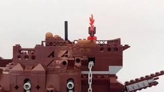 Lepin Lego Flying Dutchman stop motion build