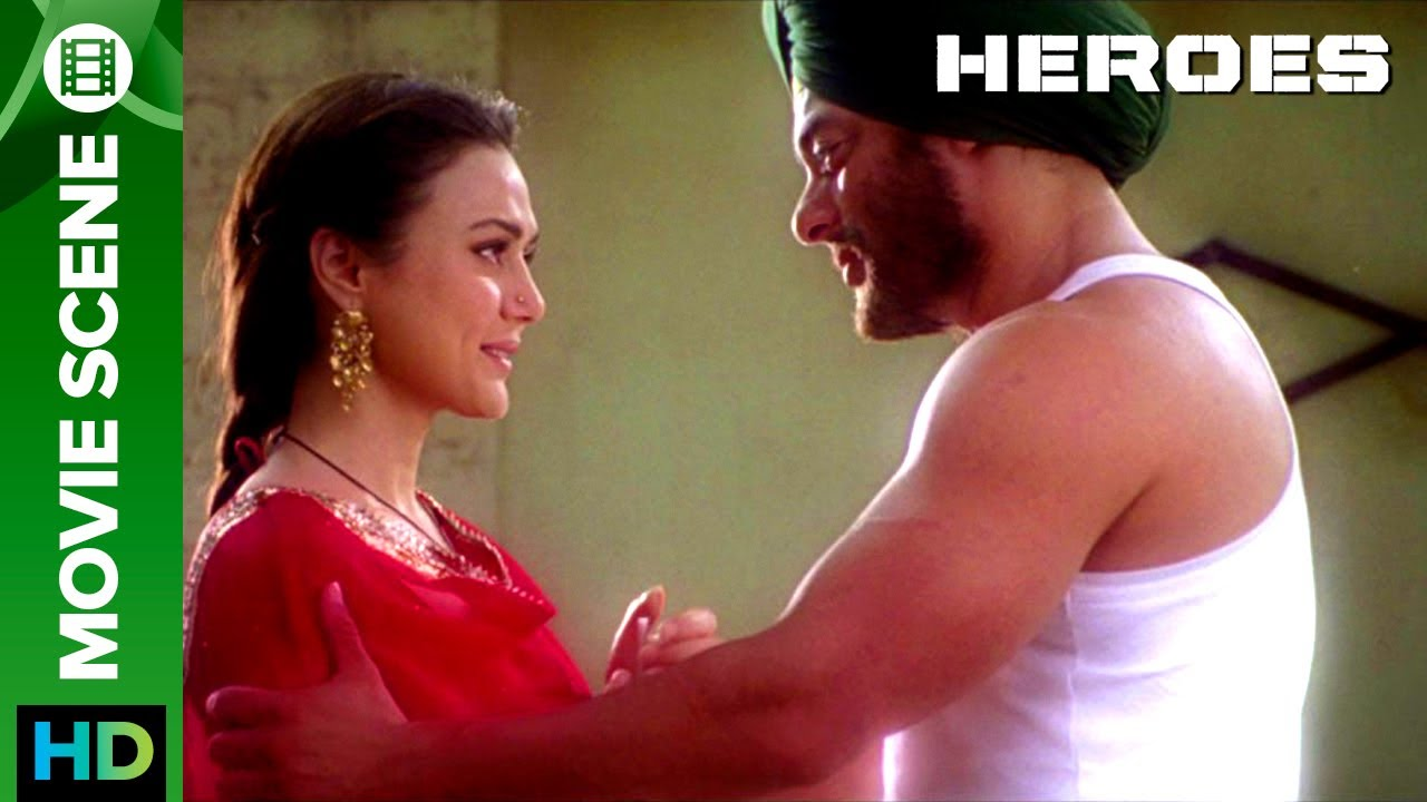 Salman Khan gets 'EMOTIONAL' about Preity Zinta | Movie Scene | Heroes | Salman Khan & Prei