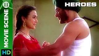 Salman Khan gets 'EMOTIONAL' about Preity Zinta | Movie Scene | Heroes | Salman Khan & Preity Zinta