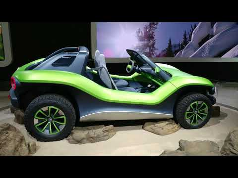2020 MATTE FERN GREEN VOLKSWAGEN ID BUGGY CONCEPT CAR @ 2019 NY AUTO SHOW