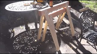 Making A Simple Sawhorse Using Only A Circular Saw And A Drill For Under $10. Armando Un Caballete.