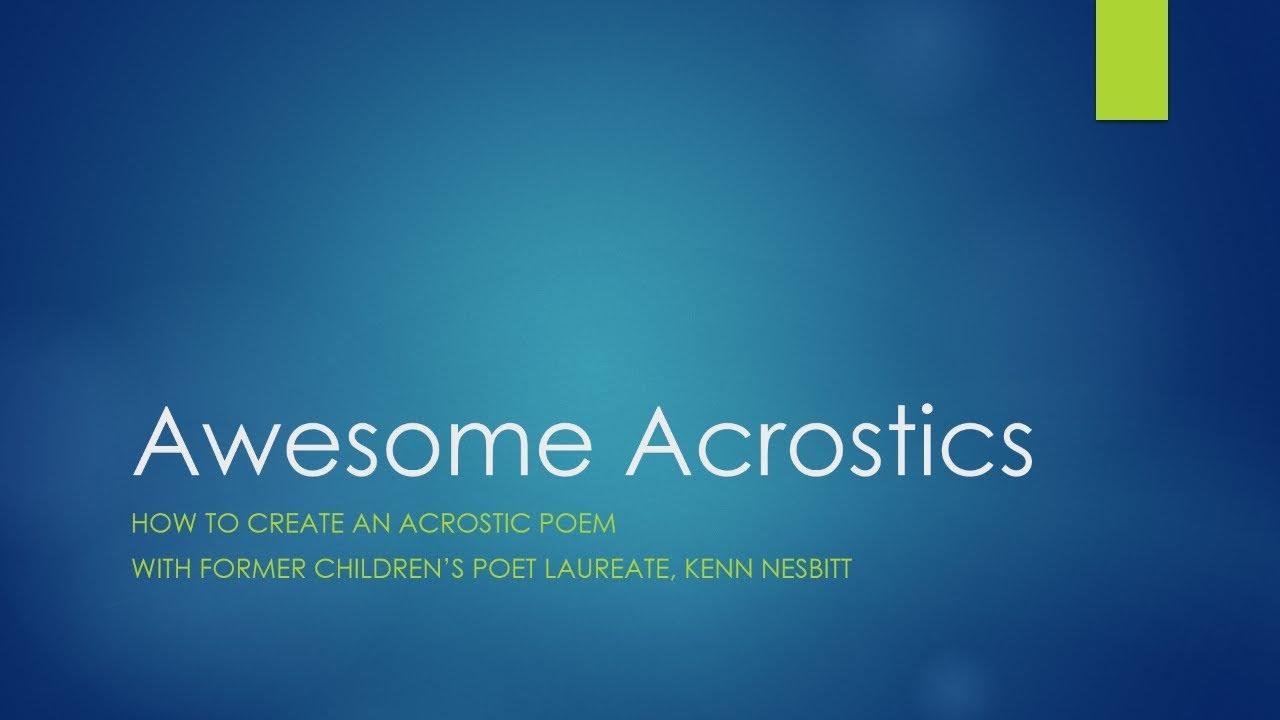 Video - Kenn Nesbitt's Poetry4kids com
