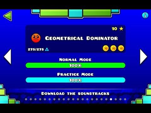 Geometrical Dominator 3 Coins || Geometry Dash || Atomimox05