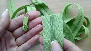Jak nałożyć suwak na taśmę suwakową / How to put slider on zipper chain