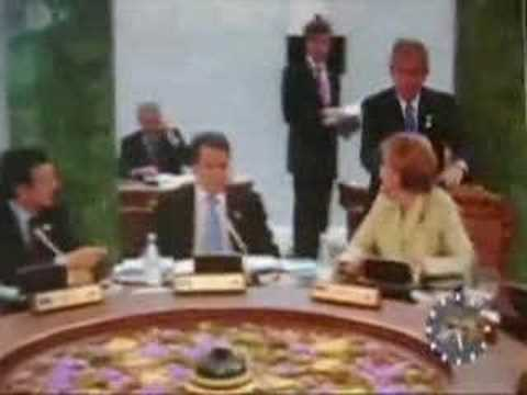Bush Creeps Out German Chancellor, Controversial Footage ...