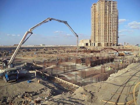 Pakistan's Largest Concreting on Reef Tower 2, Emaar Crescent Bay Karachi