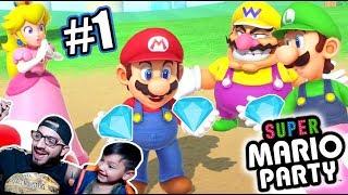 Diamantes con Luigi y Mario | Super Mario Party Capitulo1  | Juegos Karim Juega