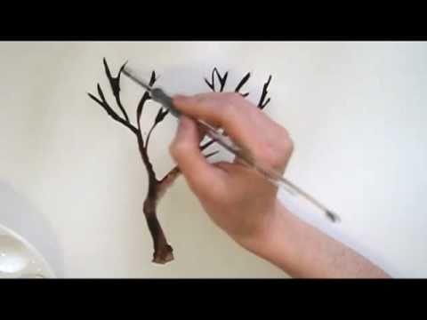 Yalnız Agaç Art Demo Of Tree In Watercolors Youtube