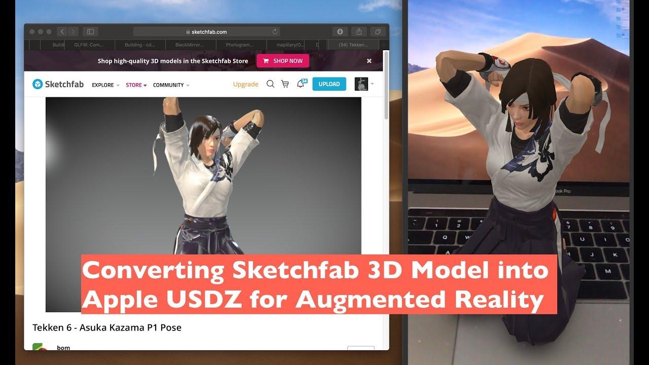 DEMO / Converting Sketchfab 3D Model to USDZ
