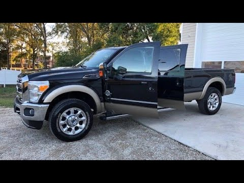 2011 Ford F-250 Super Duty Lariat Diesel 4X4 8 Foot Long Bed Tuxedo Black Truck! - Walk Around