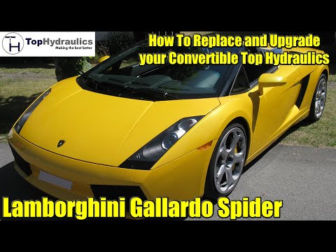 Lamborghini Gallardo Convertible Hydraulic System Replacement