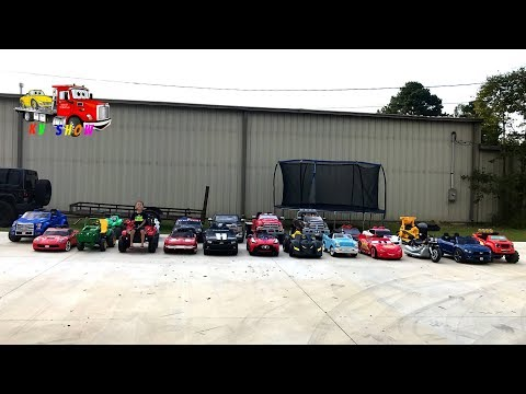 Kruz Playing With His Power Wheels Ride On Cars and Trucks! Power Wheels Collection!