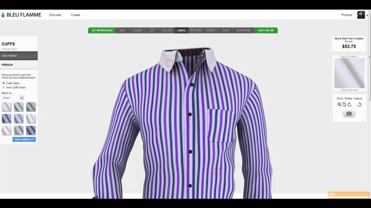 Latest bleuflamme 3d custom shirt design app with Online clothing design software