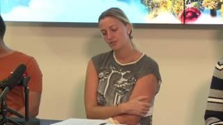 Kvitova moves fingers of left hand