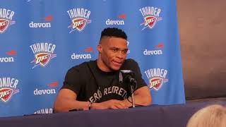 Russell Westbrook on his first game in OKC as an opponent