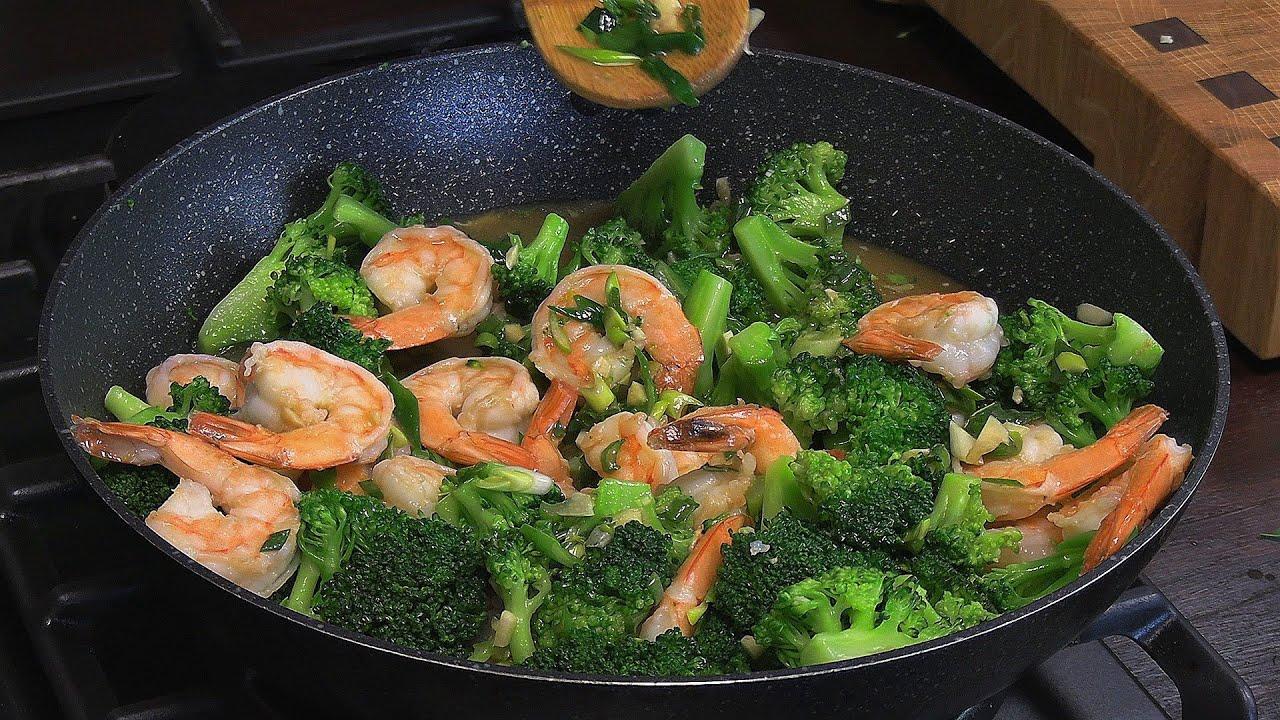 Orientalny Ekspres u fartucha   krewetki z brokułem i ryżem / Oddaszfartucha