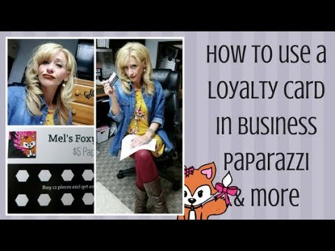 How to use a loyalty card in business (paparazzi and more)
