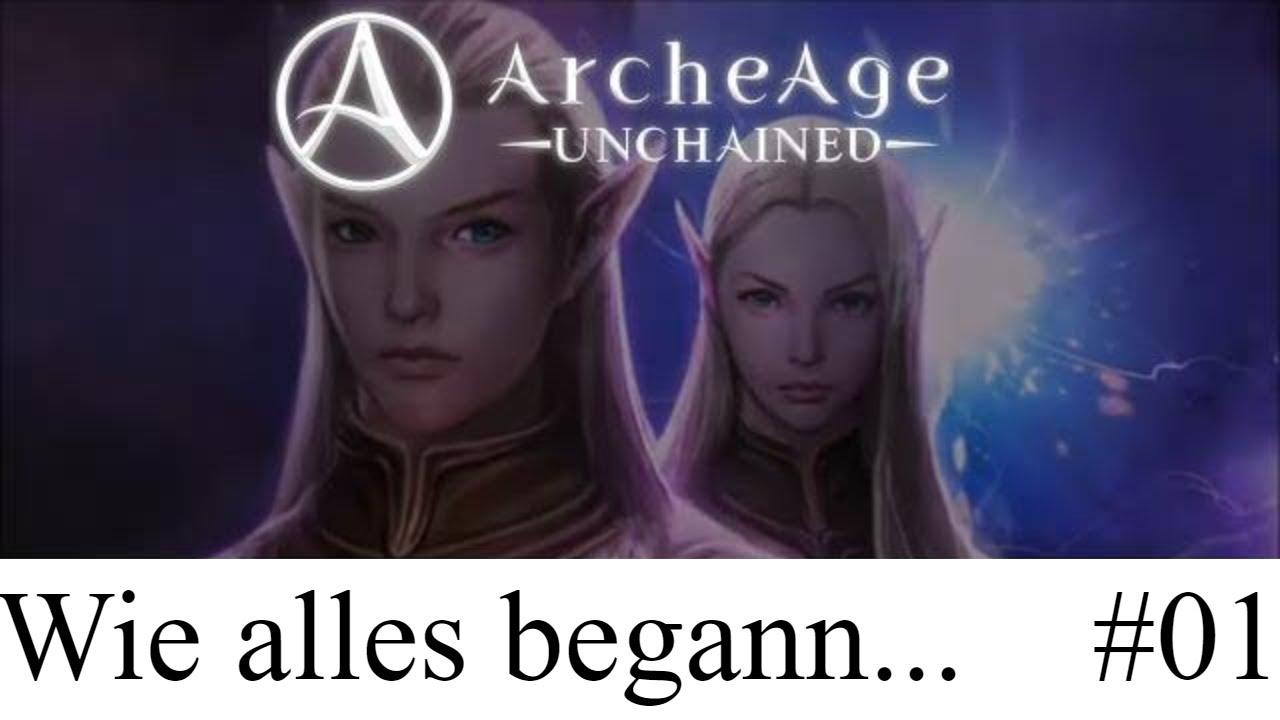 ArcheAge Unchained: Wie alles begann - Erste Schritte im Tutorial #01 AAU Deutsch Gameplay