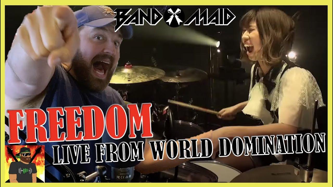 AKANE BRINGS THE THUNDER!! | BAND-MAID / FREEDOM (Feb. 14th, 2020) | REACTION