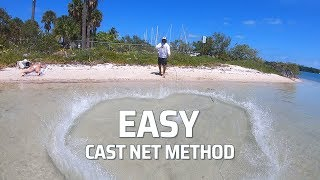 How To Throw A Cast Net Step by Step - Captain Mike / ReelReports