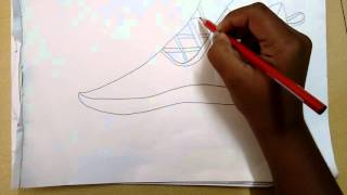 How to draw a Adidas shoe