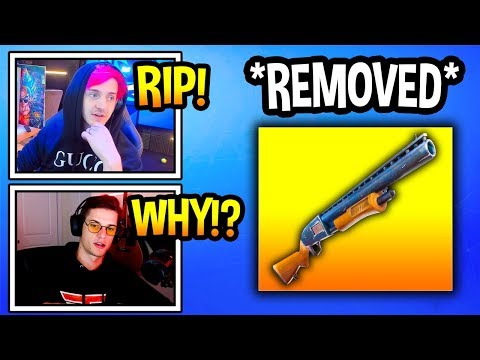 "Streamers React To ""PUMP SHOTGUN"" *REMOVED* From Fortnite! *RIP* (Fortnite Moments) thumbnail"