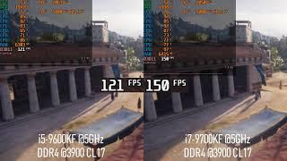 I5-9600k @5GHz vs i7-9700k @5GHz (Assassins Creed Odyssey)