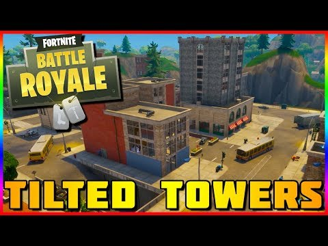 NEW TILTED TOWERS GAMEPLAY   Fortnite Battle Royale