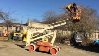 видео аренда коленчатого подъемника москва