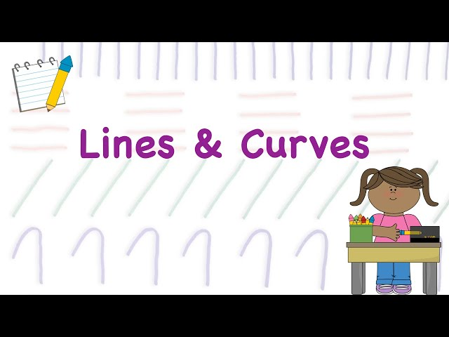 Basic Lines & Curves for Kids || How to draw an object using Lines & Curves || Learn Lines & Curves