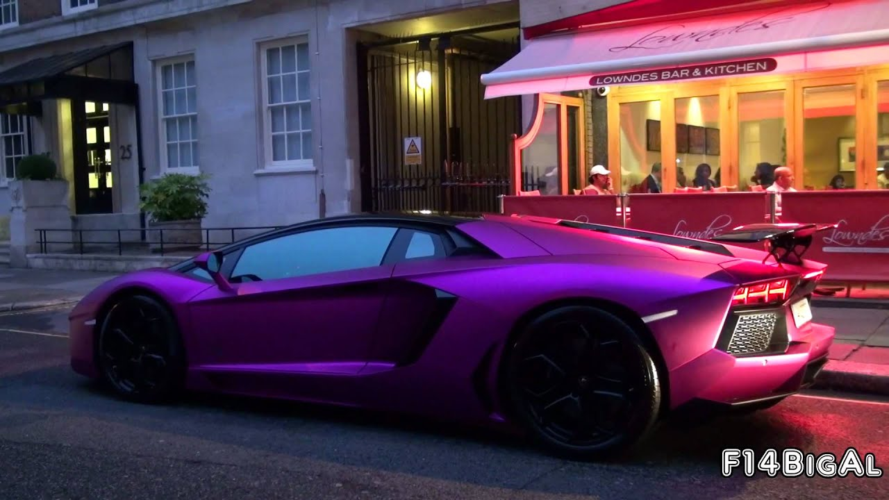 PINK Lamborghini Aventador LP760-4 LOUD Start-up - YouTube