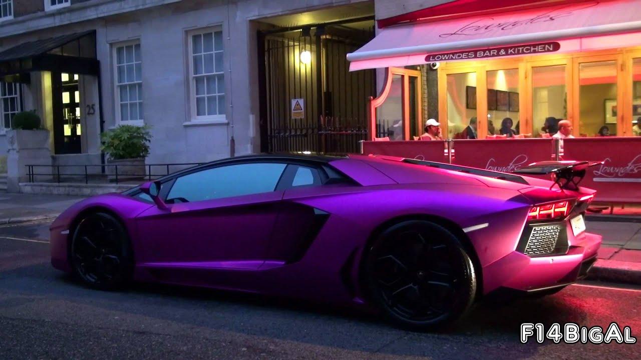 Pink Lamborghini Aventador Lp760 4 Loud Start Up Youtube