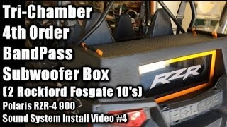 triple chamber 4th order bandpass subwoofer box 2 10 s polaris rzr 4 sound system install video 4